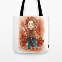 sam smith Tote Bags featuring sam by cynamon