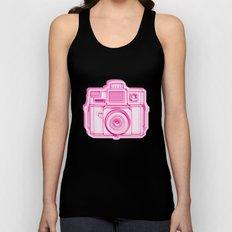 I Still Shoot Film Holga Logo - Reversed Pink Unisex Tank Top