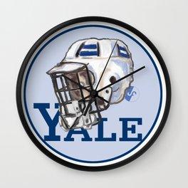 Yale Bulldogs Bucket Helmet Wall Clock
