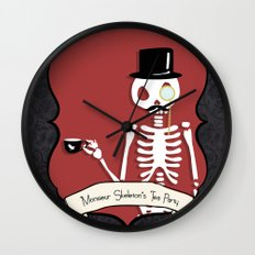 Monsieur Skeleton Wall Clock