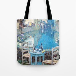 Henri Le Sidaner - Small Table in Evening Dusk (new color editing) Tote Bag