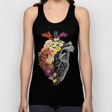 Flower Heart Spring Unisex Tank Top