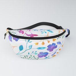 Bold & Colourful Fluro Floral Pattern Fanny Pack