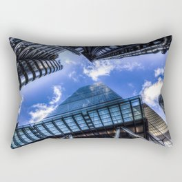 Lloyd's and the Gherkin and Cheese Grater London Rectangular Pillow