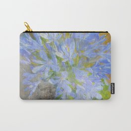 Agapanthus in Blue Carry-All Pouch