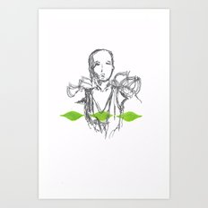 Leaf Lady Art Print