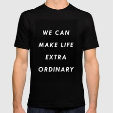 Extraordinary I Mens Fitted Tee Black SMALL