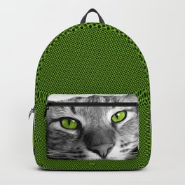 Green-Eyed Tabby Cat Backpack