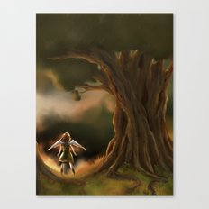 Under the Great Old Tree Canvas Print