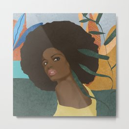 Afro lady #art print#society6 Metal Print