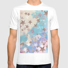 Starry Eyed White Mens Fitted Tee MEDIUM