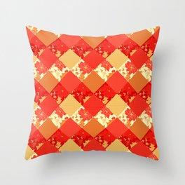 Patchwork, autumn Throw Pillow