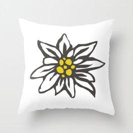 Edelweiss flower Throw Pillow