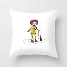 Sad Ronald McDonald In A Field Throw Pillow