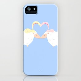 Animal Love: Sheep & Bunnies iPhone Case