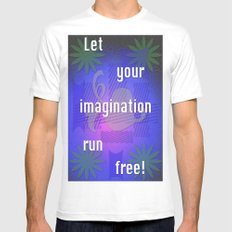 Let it run! White Mens Fitted Tee MEDIUM