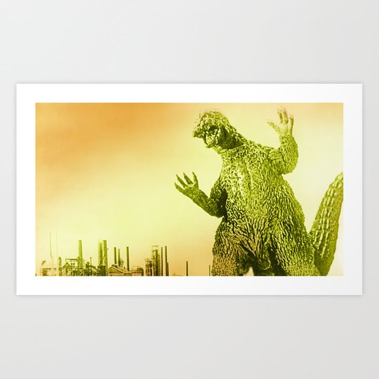 Godzilla 2 Art Print