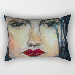 The Raven, Acrylic Painting Rectangular Pillow