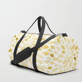 Watercolor brush strokes - yellow Duffle Bag