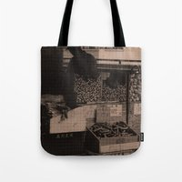 food Tote Bags featuring FooD by Christophe Chiozzi