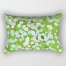 Daisies Painting Rectangular Pillow