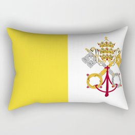 Vatican City Holy See flag emblem Rectangular Pillow