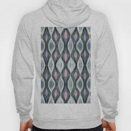 Organic pattern teal salmon Hoody