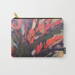 Vibrant Flower Abstract Carry-All Pouch