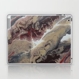 Neutral Black, Red and Brown Painting - Schism Abstract Laptop & iPad Skin