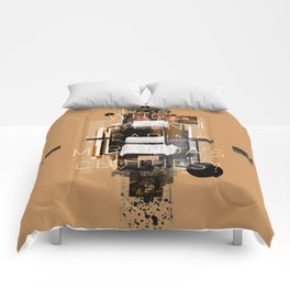 """""""Filthy Lesson"""" Graphic Art Print Comforters"""