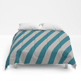 Royal Stripes (Quetzal Green) Comforters