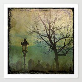 Once Upon a time a park in Barcelona Art Print