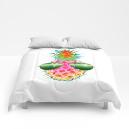 Electric Pineapple with Shades Comforters