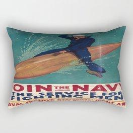 Vintage poster - Join the Navy Rectangular Pillow