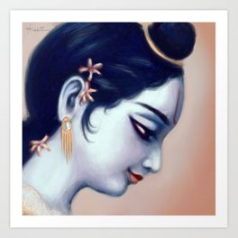 Krishna Profile Art Print