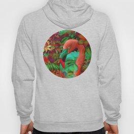 """""""Tropical Floral Retro Flamenco"""" Hoody"""