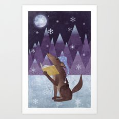 A Dog's Dream Art Print