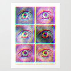 Psychedelic eyes Art Print