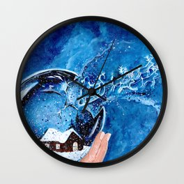 The Snow Globe Wall Clock