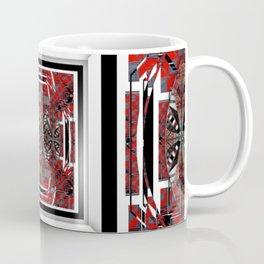 NUMBER 221 RED BLACK GRAY WHITE PATTERN Coffee Mug