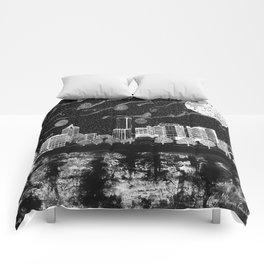 Portland Oregon Skyline Comforters