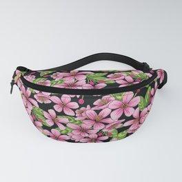 Pink Crabapple Blossoms - Floral Pattern Fanny Pack