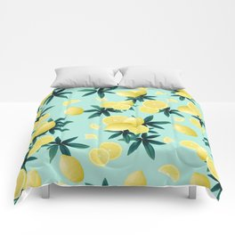 Lemon Twist Vibes #1 #tropical #fruit #decor #art #society6 Comforters
