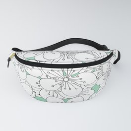 Cherry Blossom With Mint Blocks - In Memory of Mackenzie Fanny Pack