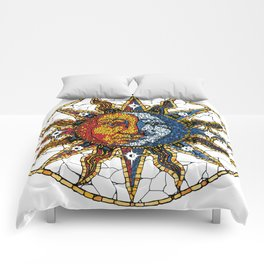 Celestial Mosaic Sun and Moon COASTER Comforters