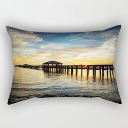 Biloxi Bay Sunset Rectangular Pillow