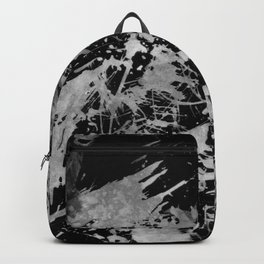 Black gray watercolor abstract brushstrokes paint Backpack