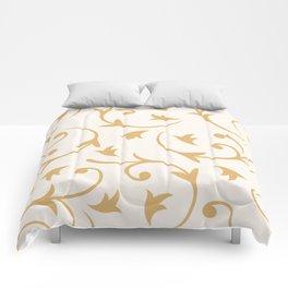 Baroque Design – Gold on Cream Comforters