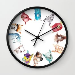 Team Alpaca Wall Clock