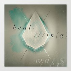 HEAL-IN(g) WATER(s) Canvas Print